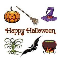 Halloween elements vector image