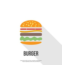 Flat design hamburger web icon vector
