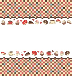 Sweets frame on mosaic vector
