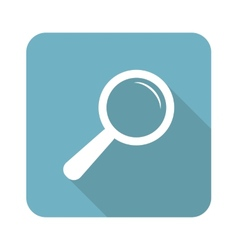 Square search icon vector