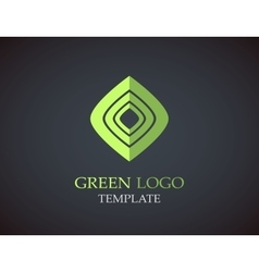 Eco green leaf logo template green leaves loop vector