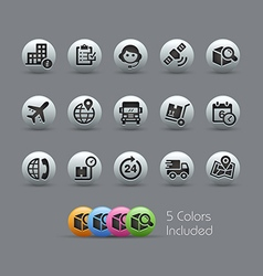 Shipping and tracking icons pearly series vector