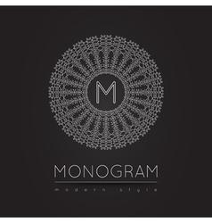 MONOGRAM icon 56trd 7441201 03 vector image