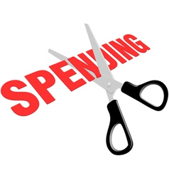 Cut Spending vector image
