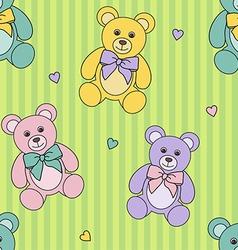teddy bears pattern vector image