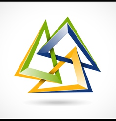 Abstract design symbol vector image vector image