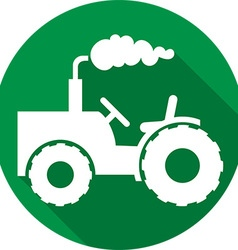 Agricultural tractor icon vector