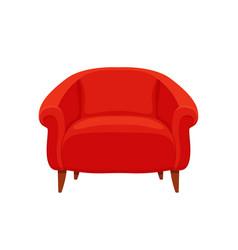 armchair colorful cartoon vector image
