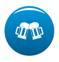 beer mug icon blue vector image