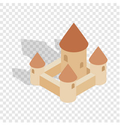 Chillon castle in montreux city switzerland icon vector