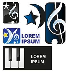 Classical music symbol vector