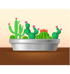 Decorative green plants concept vector