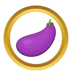Eggplant fruit icon vector image