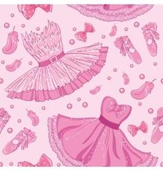 Fashion pattern of ballet dress vector