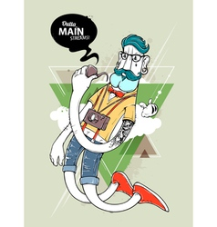 Hipster graffiti character vector