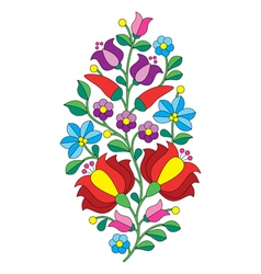 Hungarian folk pattern - kalocsai embroidery vector