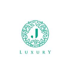 J letter logo luxurybeauty cosmetics logo vector