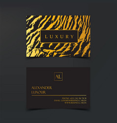 luxury business cards template banner and vector image