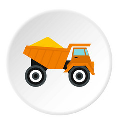 Machinery with sand icon flat style vector