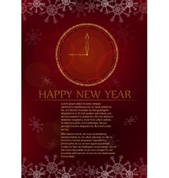New year card on red background vector