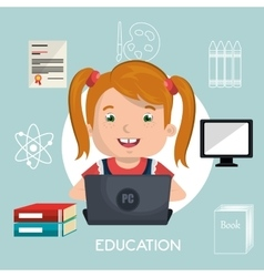 Online kids design vector