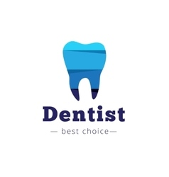 paper style tooth logo Dental clinic flat vector image