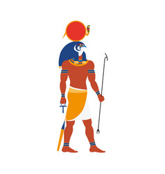 Ra god of noon sun in ancient egypt religion vector