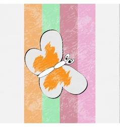 Retro butterfly design vector image vector image