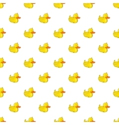 Rubber duck pattern cartoon style vector