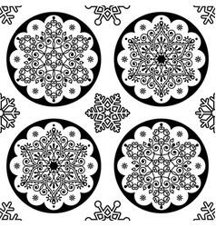 scandinavian christmas folk pattern - snowf vector image vector image
