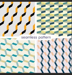 Set of four seamless geometrical patterns 20 vector