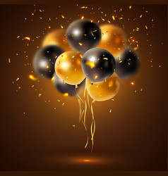 Shiny holiday balloons composition vector