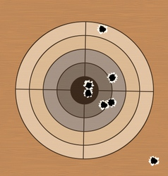 Shooting range target with bullet holes vector image