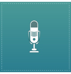 Simple retro microphone vector
