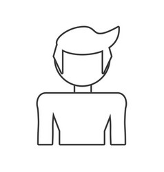 Son boy male outline vector