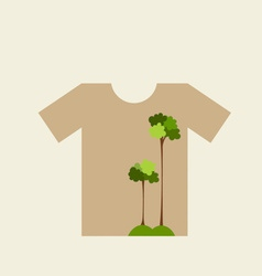 T- shirt design - ECO FRIENDLY - Creative Ecology vector image