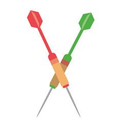 Targert dart game sport vector