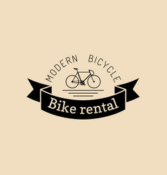 vintage hipster bicycle logo modern vector image