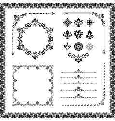 Vintage Set of Elements vector image vector image