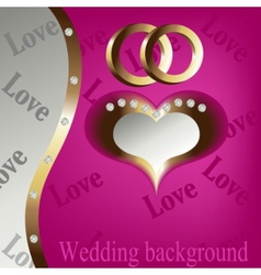 wedding heart background vector image