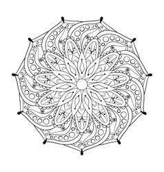 Zentangle stylized elegant round indian mandala vector