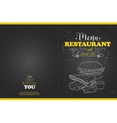 Cover scetch horisontal menu design vector