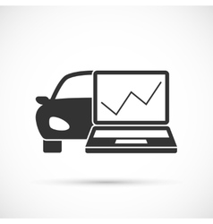 Car diagnostics icon vector