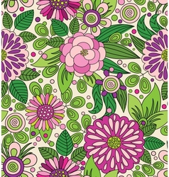 Decorative colourful picturesque seamless pattern vector