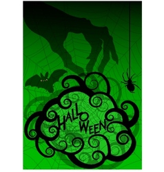 Halloween background with witches hand and frame vector