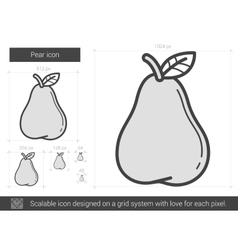 Pear line icon vector
