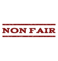 Non fair watermark stamp vector