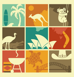 Symbols of australian culture and nature vector