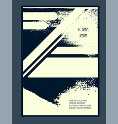 grunge textured brochure template vector image