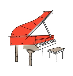 Icon piano vector